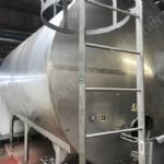 30,000 Ltr Stainless Steel Insulated Horizontal Tank with Top-Mounted Mixer