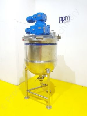 350 Ltr DC Norris Jacketed Tank with Full-Sweep Contra-Rotating Mixer