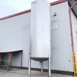 20,000 Ltr 316 Grade Stainless Steel Single Skinned Holding tank