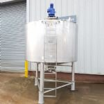 4,000 Ltr Alfa Laval Jacketed Tank with Full-Sweep Gate-Type Mixer