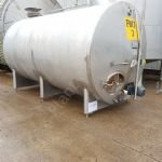 13,600 Ltr (3,000 Gal) Stainless Steel Insulated Horizontal Tank