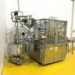 Packaging Automation Rotary Pot Filler with Heat Sealer