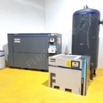 Atlas Copco GA75 Air Compressor with Dryer & Air Receiver Vessel