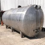 15,000 Ltr Stainless Steel Insulated & Clad Horizontal Tank with Mixer