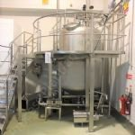 3,000 Ltr BCH Jacketed Tank with Full-Sweep Gate-Type Mixer