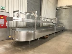 GEA Damrow Stainless Steel Cheese/Curd Draining Table