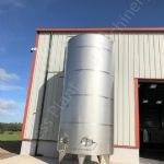 22,700 Ltr (5,000 Gal) Stainless Steel Jacketed Tank with Top-Mounted Mixer