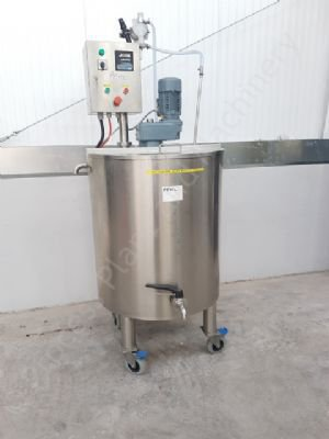 200 Ltr Stainless Steel Electrically Heated Jacketed Tank with Mixer