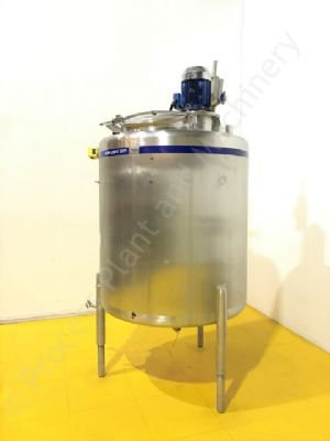 1,500 Ltr 316 Grade Stainless Steel Tank with Silverson High Shear Batch Mixer