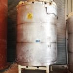 8,000 Ltr Jacketed Chocolate Tank with Top-Mounted Gate Type Mixer