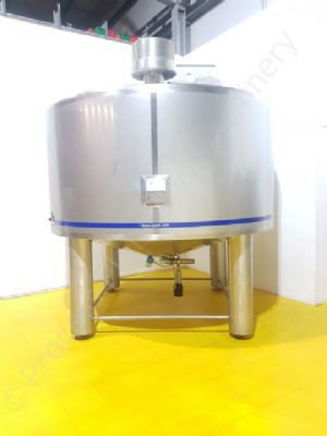 8,000 Ltr Stainless Steel Insulated Tank with Top-Mounted Paddle Mixer
