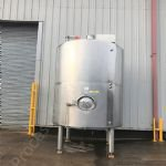 10,000 Ltr Stainless Steel Jacketed Tank with Top-Mounted Paddle Mixer