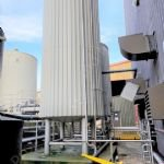 27,000 Ltr 316 Grade Stainless Steel Insulated & Clad Storage Silo