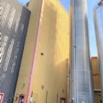 104m3 Crystal Sugar Insulated & Clad Vertical Storage Silo