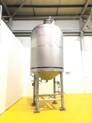 6,500 Ltr 316 Grade SS Jacketed Tank with Full-Sweep Scraped-Surface Mixer