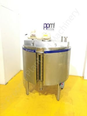 600 Ltr 316 Grade Stainless Steel Jacketed Tank with Multi-Paddle Mixer