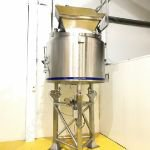1,000 Ltr 316 Grade SS Jacketed Tank with Full-Sweep Scraped-Surface Mixer