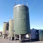 60,000 Ltr 316 Grade Stainless Steel Insulated & Clad Tank Mounted on Load Cells