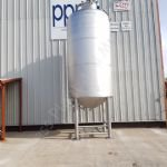 9,000 Ltr 316 Grade SS Jacketed Tank with Full-Sweep Scraped-Surface Mixer