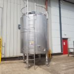 10,000 Ltr Tetra Pak 316 Grade Stainless Steel Insulated Tank with Paddle Mixer