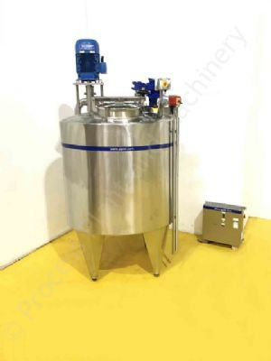 2,000 Ltr Stainless Steel Tank with Silverson High Shear Mixer & Paddle Mixer