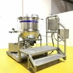 150 Ltr Giusti Jacketed Mixing Tank with 7.5kw Silverson 450LS Inline High Shear Mixer
